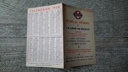 Plan Du Réseau Métro Calendrier 1938 - Europe