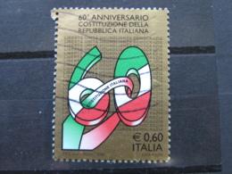*ITALIA* USATI 2008 - 60° COSTITUZIONE ITALIANA - SASSONE 3007 - LUSSO/FIOR DI STAMPA - 6. 1946-.. Repubblica