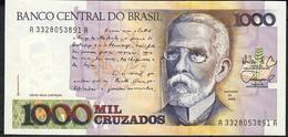 BRAZIL  P213b 1000 CRUZADOS  Sign.26  #A3228  1988  UNC. - Brésil