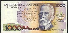 BRAZIL  P213b 1000 CRUZADOS  Sign.26  #A9443  1988  UNC. - Brésil