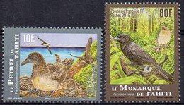 Polynésie Française 2019 - Oiseaux De Polynésie, Le Pétrel Et Le Monarque  - 2 Val Neufs // Mnh - Polynésie Française