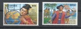 MALDIVAS YVERT 1530/31    MNH  ** - Maldivas (1965-...)