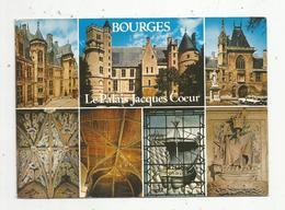 Cp , 18 ,  BOURGES , Le Palais Jacques COEUR , Multi Vues , Voyagée 1986 , Ed. Combier - Bourges