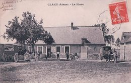 France 02, Glacy, La Place, Vins Et Liqueurs Calland Aubert, Attelages (14.8.1910) - France