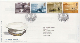 Great Britain Set On Used FDC - Submarines