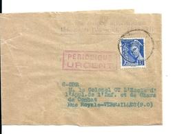 Bande Pour Journaux Avec 10c Mercure /Office National Météorologique Pour Ecole Chars De Combat,1939 Cote:+23euro - France