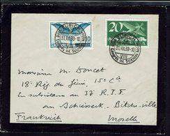 SUISSE - 1938 - Enveloppe De Zurich Pour Le Camp Militaire De Bitche Au Schiesseck (FR) - B/TB - - Lettres & Documents