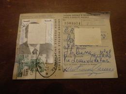 TESSERA POSTALE CON 500 LIRE ISOLATO-1975 - 1946-.. République