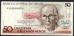 BRAZIL P219a 50 CRUZADOS NOVOS 1989signature 26 #A3146 UNC. - Brasile