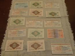 LOTTO 15 MINI ASSEGNI -ALCUNI DOPPI - Cheques & Traveler's Cheques