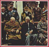 Staline, Roosevelt Et Churchill à Yalta En Février 1945. Seconde Guerre Mondiale. URSS. Encyclopédie De 1970. - Autres