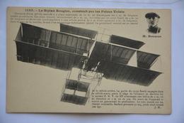 Le Biplan Rougier,construit Par Les Freres Voisin-Mr Rougier En Medaillon - Avions