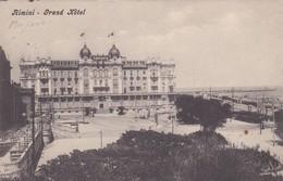 CARTOLINA  - RIMINI - GRAND HOTEL - VIAGGIATA DA RIMINI PER BESANA BRIANZA - Rimini