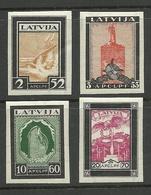 LATVIA 1933 Michel 215 - 218 B * - Latvia