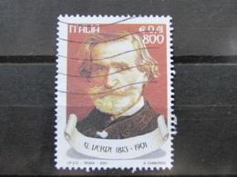*ITALIA* USATI 2001 - MELODRAMMA VERDI - SASSONE 2523 - LUSSO/FIOR DI STAMPA - 6. 1946-.. Repubblica