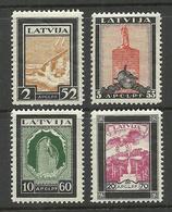 LATVIA 1933 Michel 215 - 218 A MNH/MH - Latvia