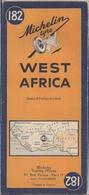 AFRIQUE OCCIDENTALE - CARTE ROUTIÈRE - MICHELIN. - Cartes Routières