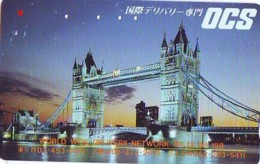 Télécarte Japon ANGLETERRE (302) GREAT BRITAIN Related * ENGLAND Phonecard Japan * TOWER BRIDGE * LONDON - Paysages