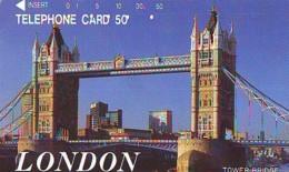Télécarte Japon ANGLETERRE (303) GREAT BRITAIN Related * ENGLAND Phonecard Japan * TOWER BRIDGE * LONDON - Paysages