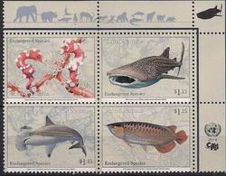 2014 UNO NEW YORK   MI.  1430-3**MNH     Gefährdete Arten : Fische - Neufs