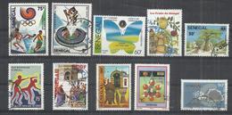 TEN AT A TIME - SENEGAL - LOT OF 10 USED COMMEMORATIVE  11 - USED OBLITERE GESTEMPELT USADO - Senegal (1960-...)