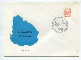 DIA MUNDIAL DEL TURISMO 1986 OBLITERES SOBRE MATASELLOS ESPECIALES URUGUAY SPC -LILHU - Vacaciones & Turismo