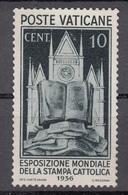 Vaticano 1936 - Stampa Cattolica, 10 Cent. ** - Neufs