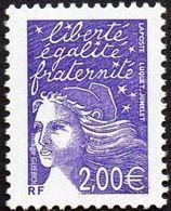 France Variété N° 3457 A ** Marianne Du 14 Juillet - Luquet - Le 2.00 Euros Violet Sans Phosphore - 1997-04 Marianne Of July 14th