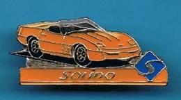 1 PIN'S //  ** CHEVROLET / CORVETTE C4  5.7 I V8 / CABRIOLET // SOLIDO ** - Corvette