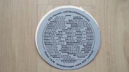 Info-Aufkleber Des ACE (Auto Club Europa) Von 1976 - Autocollants