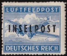 """~~~ Deutschland Insel Rhodos 1944 - """" INSELPOST """"  - Michel 8 B  MH * ~~~ - Occupation 1938-45"""