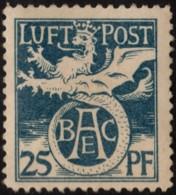~~~  Deutschland Bayern 1912 - Flugpostmarke Halbamtlich  - Michel F I * MH   ~~~ - Bayern