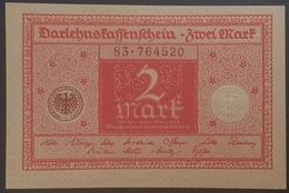 EBN12 - Germany 1920 Banknote 2 Mark P.59  WEIMAR REPUBLIC - UNC - [ 3] 1918-1933 : Weimar Republic