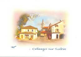 Collonges Sous Salève Série De 4 Cartes Canton Saint Julien En Genevois - France