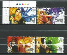 Singapore 2007 Cultural Dances.folklore. MNH - Singapur (1959-...)