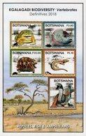 Botswana - 2018 - Kgalagadi Biodiversity - Reptiles, Fish And Amphibians - Mint Souvenir Sheet - Botswana (1966-...)