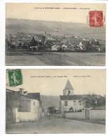 LONGCHAMP Sur AUJON 1907 VUE + Grande RUE 1914 Environ Bar Sur AUBE Maranville Forges Clairvaux Bayel Troyes Champagne - France