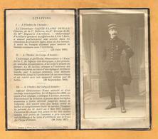 FAIRE PART DECES MILITAIRE  AVIATEUR AVIATION COMbat AERIEN VERDUN AOUT 1917 LIEUTENANT ARTILLERIE OBSERVATEUR WWI - Documents