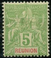 Reunion (1900) N 46 * (charniere) - Réunion (1852-1975)