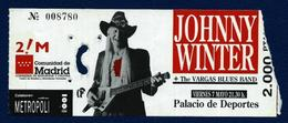JOHNNY WINTER (Madrid-1990) - Concerttickets