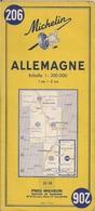 ALLEMAGNE - CARTE ROUTIÈRE MICHELIN N° 206 - Cartes Routières