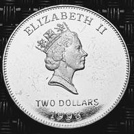 Bermuda 2 Dollar 1993  - Silver - Bermudes