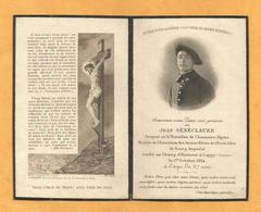 FAIRE PART DECES POILU WWI SERGENT 51 EME BATAILLON CHASSEURS ALPINS  CAPPY SOMME OCTOBRE 1914 BOURG ARGENTAL SENECLAUZE - Documents