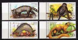 "Singapore 2007 Mammals - Inscription ""2007A"".Civet,Monkey,Pangolin,Giant Squirrel.Mammals,animals. MNH - Singapur (1959-...)"