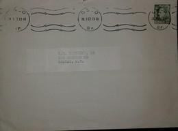 O) 1957 NORWAY, KING HAAKON VII  SCT 345  25o, TO SOLVAY-USA - Norway