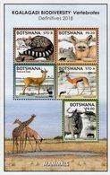 Botswana - 2018 - Kgalagadi Biodiversity - Mammals - Mint Souvenir Sheet - Botswana (1966-...)