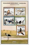 Botswana - 2018 - Kgalagadi Biodiversity - Birds - Mint Souvenir Sheet - Botswana (1966-...)