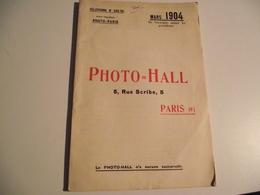 PHOTO= HALL, Mars 1904, Catalogue Général, Toute La Photo - Werbung