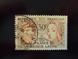 """1956    -timbre Oblitéré N°    1060  """" Amérique Latine      """"          Côte     2     Net             0.65 - France"""