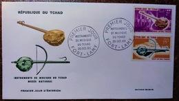 Enveloppe Premier Jour: Instruments De Musique Du Tchad - 26/10/1965 (15 + 2 F) - Tschad (1960-...)